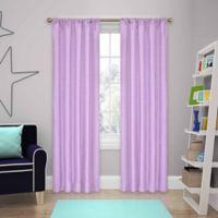 SolarShield® Kate 63-Inch Rod Pocket Room Darkening Window Curtain Panel in Light Purple