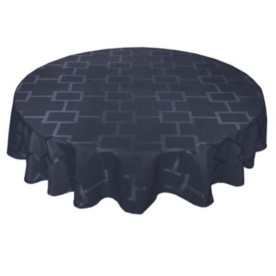 Origins™ Tribeca Microfiber 90 Inch Round Tablecloth In Navy
