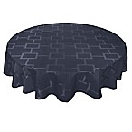 Origins™ Tribeca Microfiber 90-Inch Round Tablecloth in Navy