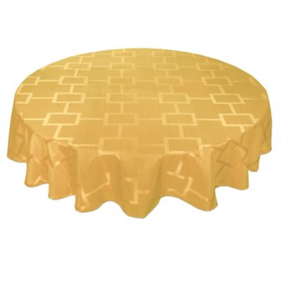 Buy Majestic 60 Inch X 90 Inch Tablecloth In Gold From Bed