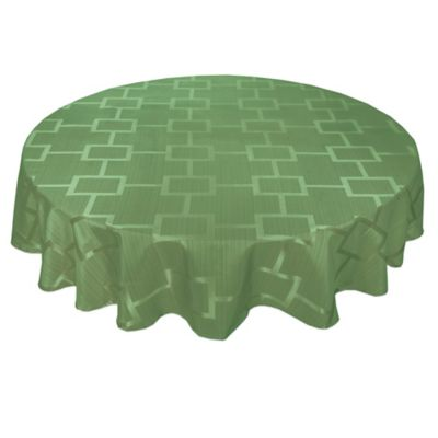 Origins™ Tribeca Microfiber 90 Inch Round Tablecloth In Green