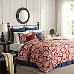 Madison Park Lucy Reversible 9-Piece Queen Comforter Set in Red