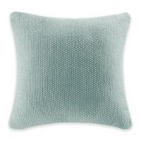 INK+IVY Bree Knit Square Decorative Pillow in Aqua