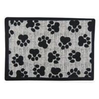 P.B. Paws & Co. 13-Inch x 19-Inch Paws Pet Mat in Black