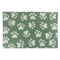 Park B. Smith® World Paws 13-Inch x 19-Inch Cotton Pet Mat in Smoke Green