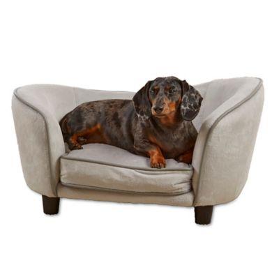 Superbe Enchanted Home™ Pet Ultra Plush Snuggle Pet Sofa In Grey