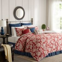 Madison Park Lucy Reversible King Duvet Cover Set in Red