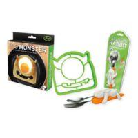Fred & Friends® Egg Monster Bread Cutter and Snack Rabbit Nesting Utensils