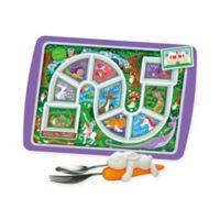 Fred & Friends® Enchanted Forest Dinner Winner Tray & Snack Rabbit Utensils Set