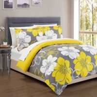 Chic Home Chrysa 3 Piece Reversible Queen Duvet Cover Set In Yellow