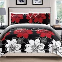 Chic Home Chrysa 3-Piece Reversible Queen Quilt Set in Black