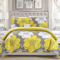 Chic Home Chrysa 3-Piece Reversible Queen Quilt Set in Yellow