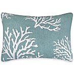 The Vintage House by Park B. Smith® Coral 9-Inch x 13-Inch Oblong Throw Pillow in Aqua