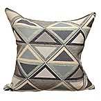 Triangle Park Denim 20-Inch Square Throw Pillow