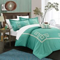 Chic Home Edmonton 8-Piece Queen Duvet Cover Set in Sage