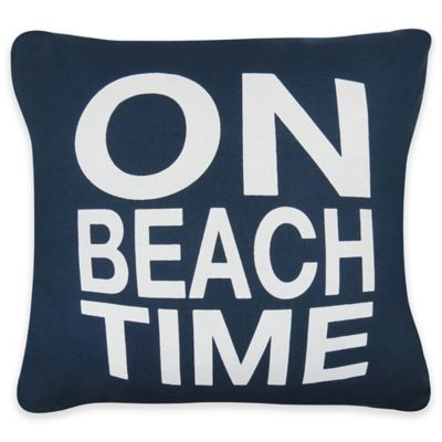the vintage house by park b smith beach time square throw pillow in indigo