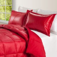 PUFF Down Alternative Ultra Light Indoor/Outdoor King Comforter in Red