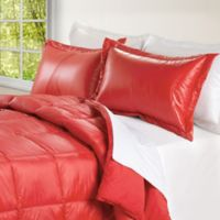 PUFF Down Alternative Ultra Light Indoor/Outdoor Twin Comforter in Coral