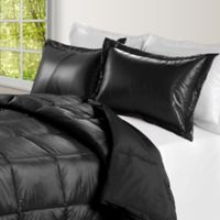 PUFF Down Alternative Ultra Light Indoor/Outdoor Twin Comforter in Black