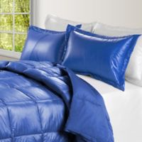 PUFF Down Alternative Ultra Light Indoor/Outdoor Twin Comforter in Electric Blue