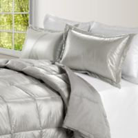 PUFF Down Alternative Ultra Light Indoor/Outdoor Twin Comforter in Silver