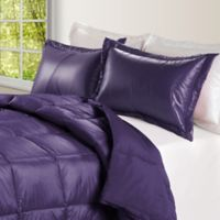 PUFF Down Alternative Ultra Light Indoor/Outdoor Twin Comforter in Purple