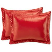 PUFF Ultra Light King Indoor/Outdoor Pillow Shams in Coral (Set of 2)