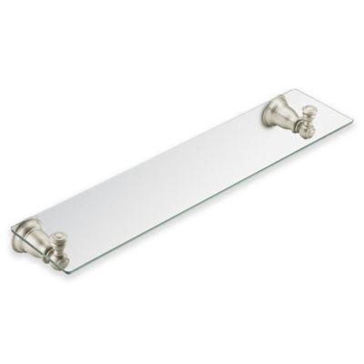 Moen Kingsley Glass Shelf in Brushed Nickel
