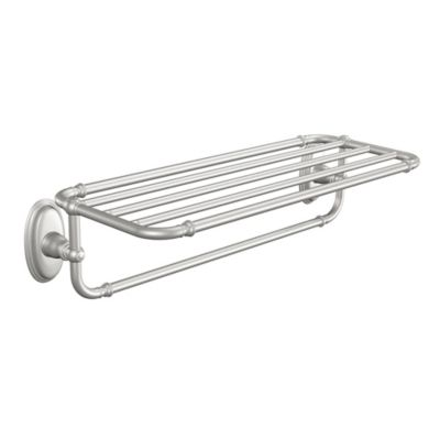 Moen Kingsley Brass Towel Shelf in Brushed Nickel