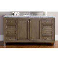 James Martin Furniture Chicago 60-Inch Single Vanity in Walnut