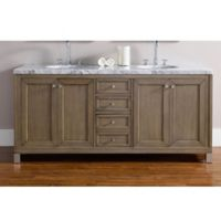 James Martin Furniture Chicago 72-Inch Double Vanity in Walnut