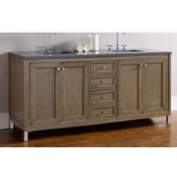 James Martin Furniture Chicago 72-Inch Double Vanity with Quartz Top in Walnut