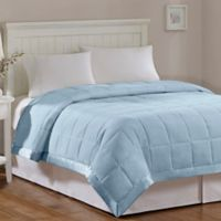 Madison Park Windom Microfiber Twin Blanket in Blue