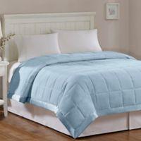 Madison Park Windom Microfiber Full/Queen Blanket in Blue