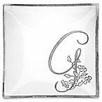 "Classic Touch Whimsy Glitter Monogrammed Letter ""G"" Charger Plate"
