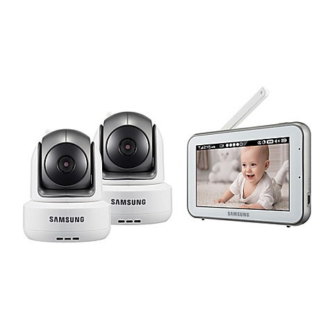 samsung brightview duo hd video baby monitor with 5 inch color touch screen. Black Bedroom Furniture Sets. Home Design Ideas