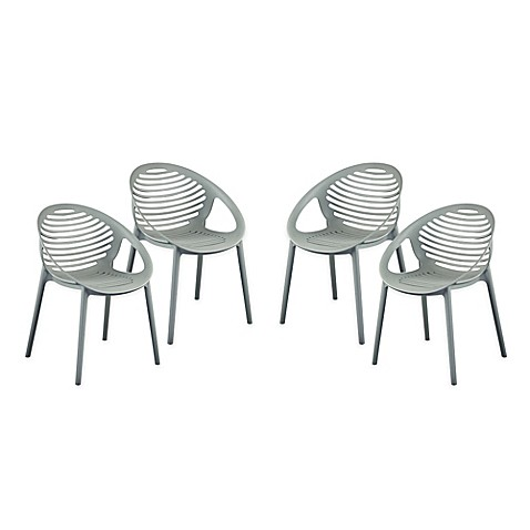 image of Eurostyle™ Lima Stacking Arm Chairs (Set of 4)