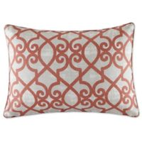 Madison Park Daven Rectangle Throw Pillow in Coral