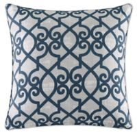 Madison Park Daven 20-Inch Square Throw Pillow in Navy