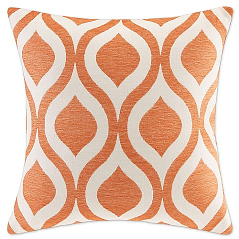 20 Inch Square Decorative Pillows : Buy Madison Park Verona 20-Inch Square Decorative Pillow in Orange from Bed Bath & Beyond