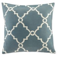 Madison Park Saratoga 20-Inch Square Decorative Pillow in Blue