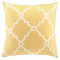 Madison Park Saratoga 20-Inch Square Decorative Pillow in Yellow