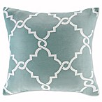 Madison Park Saratoga 20-Inch Square Decorative Pillow in Seafoam