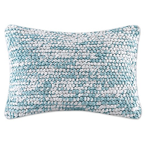 Blue Rectangle Throw Pillow : Buy Madison Park Heathered Woven Rectangle Throw Pillow in Blue from Bed Bath & Beyond