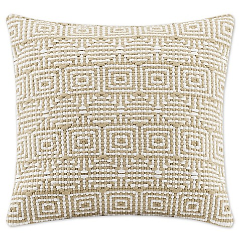 Madison Square 18-Inch Decorative Pillows : Madison Park Geometric Woven 20-Inch Square Throw Pillow - Bed Bath & Beyond