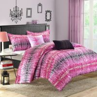 Chic Home Waffle 4-Piece Twin Comforter Set in Pink