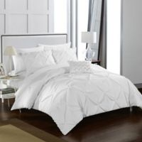 Chic Home Weber Queen Duvet Cover Set in White