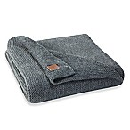 UGG® Pebble Knit Throw Blanket in Navy