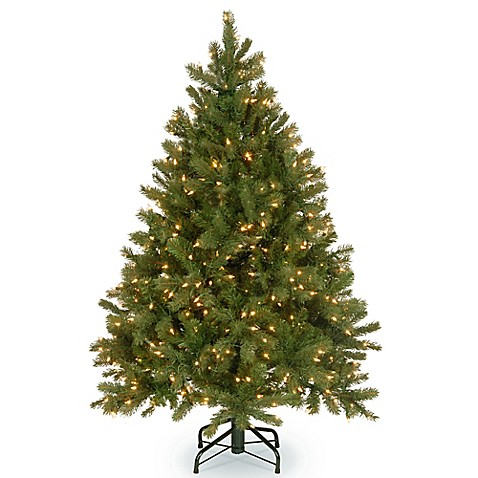 feel real downswept douglas fir pre lit christmas tree. Black Bedroom Furniture Sets. Home Design Ideas