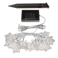 Lumabase Solar Powered Silver String Star Lights